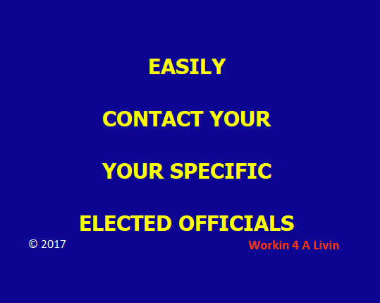 Contact Elected Officials
