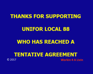 Unifor Reaches Tentative Agreement