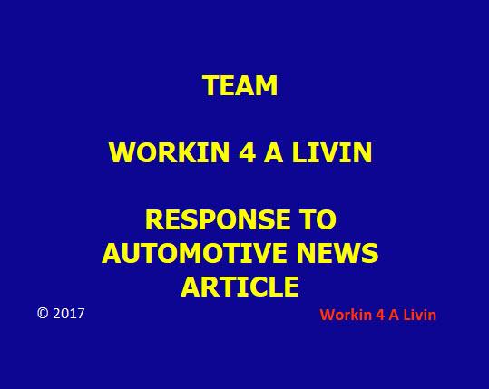 Workin 4 A Livin Response
