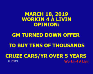 GM Stock n Bond Holders Take Notice