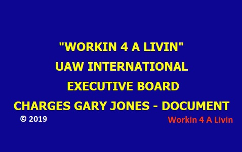 UAW IEB Charges of Gary Jones