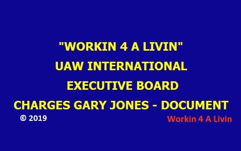 UAW IEB Charges of Gary Jones