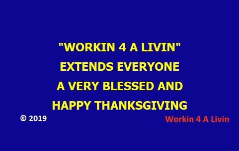 2019 Happy Thanksgiving